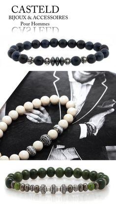 Bracelets pour Homme Perles de Casteld Style, élégance, design, rester Masculin... #bijouxhommes #bracelet #perles #tendance #formen #luxe #pourhommes  http://www.casteld.com/bijoux-homme