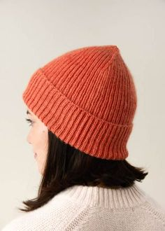 Classic Ribbed Hat | Purl Soho Slouch Hat Knit Pattern, Beanie Knitting Patterns Free, Beanie Pattern Free, Knit Beanie Hat, Free Knitting, Hat Patterns, Slouch Hats, Sweater Patterns, Stitch Patterns