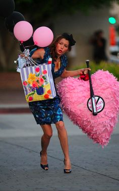the heart shaped piñata is a must.