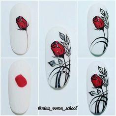 Nail Art Videos, Funky Nails, Nail Arts, Swag Nails, Nails Inspiration, Nail Art Designs, Valentines, Painting, Flowers