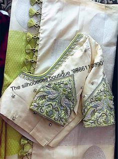 ideas embroidery blouse designs latest The Effective Pictures We Offer You About cotton blouse d Saree Kuchu Designs, Sari Blouse Designs, Fancy Blouse Designs, Designer Blouse Patterns, Bridal Blouse Designs, Sari Design, Hand Work Blouse Design, Stylish Blouse Design, Textiles