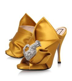 bow embellished pumps - Yellow & Orange N Discount Shop Offer Buy Online Authentic 14Ak7g