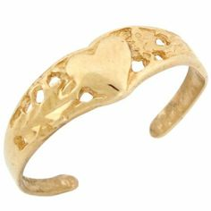 10k Solid Yellow Gold Heart Toe Ring Jewelry Liquidation. $75.95. Made in USA!. Made with Solid 10k Gold!. Save 37%!