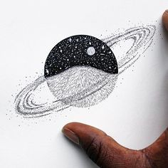 Space design from last night (Zoom for detail). Let's cherish this planet of ours. Let's be good to ourselves and to each other. Wishing everyone a wonderful weekend! Song for the day is Stayin' Alive by @thebeegeesofficialpage  • • • • • • #illustration#design#art#creatives#blackwork#pointilism#dotwork#space#planet#earth#stars#moon#drawing#beautiful#conservation#travel#coffee#tattoo#rva#tattoodesign#graphicdesign#friday#weekend#blackworknow#letsgetlost#love#kindness#handdrawn#explore#bet...