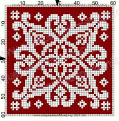 ru / Фото - Le Filet Ancien au Point de Reprise V - gabbach - The Crocheting Place Cross Stitching, Cross Stitch Embroidery, Embroidery Patterns, Knitting Charts, Knitting Patterns, Crochet Patterns, Cross Stitch Designs, Cross Stitch Patterns, Postage Stamp Quilt