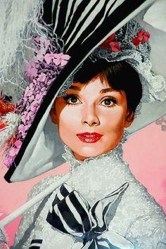 Audrey Hepburn by Benicio Illustrator #vintage                                                                                                                                                      Mais
