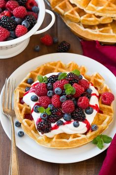 Belgian+Waffles @cookingclassy