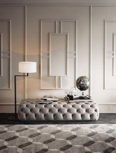 Casamilano home furniture | Living Room ideas with italian design furniture brand Casamilano | Beige pouff | #homedecor #italiandesign #italianstyle | See more http://www.milandesignagenda.com/luxury-italian-design-brands-need-know-isaloni-2018/