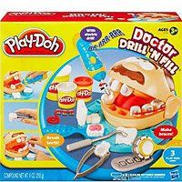 """""""Play-Doh Dentist (The set allows your child to play dentist by making braces or brushing teeth, and also gives you the opportunity to teach about dental hygiene) by Hasbro."""" Naturally, this was my favorite game when I was little..LOL"""