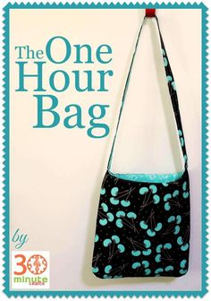 Sewing basics - The One Hour Bag Free Sewing Tutorial – Sewing basics Sewing Basics, Sewing Hacks, Sewing Tutorials, Sewing Tips, Basic Sewing, Tutorial Sewing, Wallet Tutorial, Bag Tutorials, Sewing Patterns Free