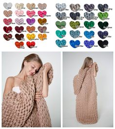 Order now and do not wait until it's lat for Christmas!  Great Gift - Chunky blankets in 42 colors!  Choose your color and receive it on time for Christmas!
