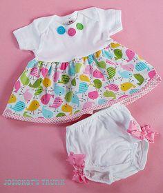 Easter Babydoll Dress Set Custom Newborn to 2T by josiekatstrunk, $49.50