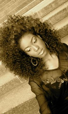 Voluminous Curly Fro flexi rod Tutorial.