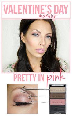 pretty in pink Valentine's makeup idea