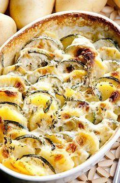 Photo de la recette Gratin de pommes de terre aux courgettes