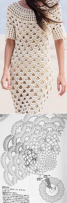 Lacy dress hook \/ Knitting