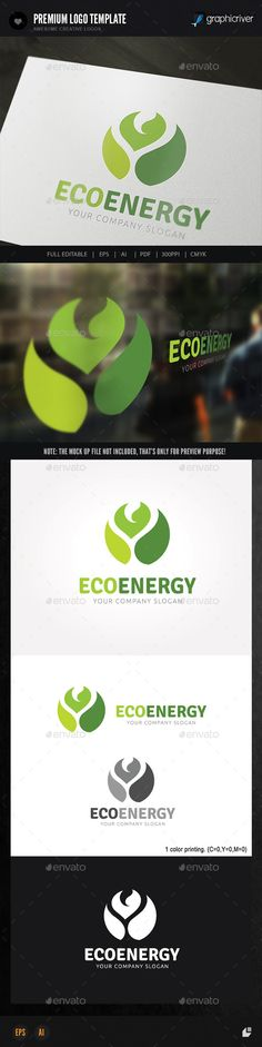 Eco Energy - Logo Design Template Vector #logotype Download it here: http://graphicriver.net/item/eco-energy-/8961033?s_rank=1767?ref=nexion