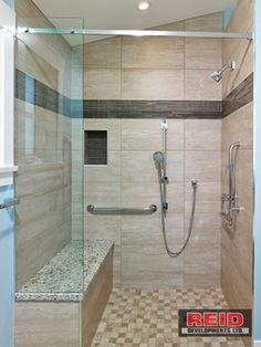 an inline glass shower can be quite a one door panel | shower