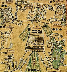 """Ixchel   IxchelorIxChel,is a goddessMayaassociated with water.Its name means """"Lady (ix) - Arc-en-ciel (chel)""""[1].In the textsglyph, it is called """"Chak Chel.""""This is the Goddess O in the classification Paul Schellhas revised byKarlTaube.  She is the wife ofItzamnaand mother Bacabs.She was represented by a wrinkled old woman with hooked nails.  It can be in a benevolent or malevolent look.Unlike Europeans, for whom the rainbow sky vehicle positive connotations, the Maya…"""