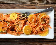 This carrot salad is a bit of a surprise and nothing like the average picnic-staple carrot salad you might be more familiar with.  By Faith Gorsky