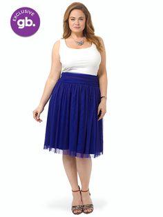 Twirling In Tulle Skirt In Purple #GwynnieBee