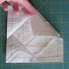 Freezer Paper Piecing TutorialPaper piecing generally involves sewing fabric pieces directly to a piece of paper to create a quilt block. It makes for perfectly crisp looking piecing of sometimes i… Quilting Tips, Quilting Tutorials, Machine Quilting, Quilting Designs, Crazy Quilting, Quilt Square Patterns, Paper Piecing Patterns, Placemat Patterns, Paper Quilt
