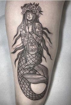 Susanne Konig Meerjungfrau Tattoo tattoo - tattoo quotes - tattoo fonts - watercolor tattooSource do Finger Tattoos, Leg Tattoos, Arm Tattoo, Body Art Tattoos, Music Tattoos, Tattoo Flash, Tattoo Ink, Tatoos, Trendy Tattoos