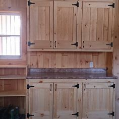 Cabinets in our tack room!