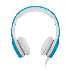 LilGadgets Connect+ Volume Limited Wired Headphones with SharePort for Children (Blue)  We believe that products for children shouldn't mean low quality or embellished with cartoonishness. Our LilGadgets headphones are built to be attractive enough for adult use yet durable and fitted for children. The Connect+ is a wired headphone offered in our signature colors that will appeal to both you and your children. As an added bonus, our headphones also have our brand new SharePort featur..