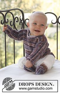 Ferdinand / DROPS Baby - Set of knitted jumper and socks for baby and children in DROPS Fabel Baby Knitting Patterns, Baby Patterns, Crochet Patterns, Drops Design, Crochet For Boys, Knitting For Kids, Free Knitting, Häkelanleitung Baby, Baby Kind