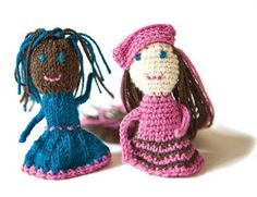 BFF Finger Puppets by Marcy Smith  Free crochet amigurumi pattern.