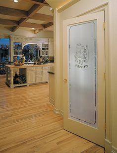 Narrow Reed Decorative Glass Interior Door HomeStory French