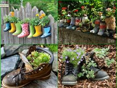 Best Easy Diy Backyard Garden Projects to Beautify Your Garden Diy Projects Cans, Garden Projects, Garden Ideas, Easy Garden, Gnome Garden, Lawn And Garden, Photomontage, Small Back Gardens, Decorated Flower Pots