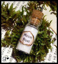 Moon Dust Glow in the Dark Bottle Necklace  by GabriellesCreations