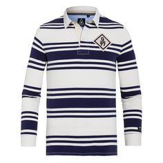 Rugby Shirt Bald - Sporty rugby shirt made of comfortable cotton, perfect for creating casual nautical looks in the warmer months.