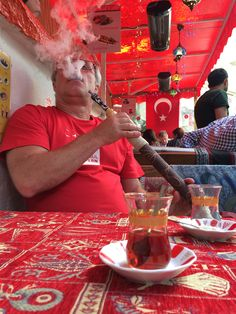 Smoking in Istanbul.