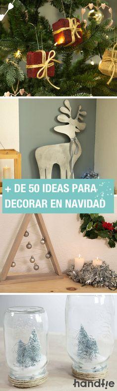 En Handfie te proponemos más de 50 ideas DIY para que decores tu Navidad. ¡Son fáciles y originales!  👀🎄 #Handfie #DIY #Navidad #Manualidades #Bricolaje #Decoración #CoronasDeNavidad #ÁrbolesDeNavidad #Renos #DecoraciónNavideña Reno, Hanukkah, Ideas Para, Wreaths, Christmas, Home Decor, Diy Christmas Decorations, Fun Crafts, Christmas Crafts