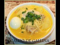 CALDO DE GALLINA (Chicken Soup)  Also add a tomato for a nice flavor