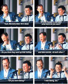 Moffat on Moriarty. I want Moriarty alive as much as Sherlock! Sherlock Poster, Sherlock Fandom, Sherlock Bbc, Sherlock Season 3, Sherlock Quotes, Watson Sherlock, Sherlock Holmes Funny, 221b Baker Street, Jim Moriarty