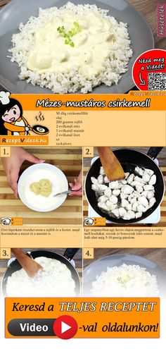 Mézes-mustáros csirkemell Slow Cooker Recipes, Cooking Recipes, Smoothie Fruit, Bio Food, Healthy Snacks, Healthy Recipes, Yummy Food, Tasty, Hungarian Recipes