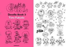 "Toru Fukuda's illustration book, ""Doodle Book3""   2cover, 8pages, 2039*2894px, pdf data.  https://gumroad.com/l/wFae"