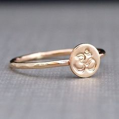 Gold+Ring++Ohm+Ring++Hammered+Gold+Ohm+Ring+by+CatherineMarissa,+$38.00