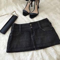 Express X2 Quality Denim Skirt Dark denim mini skirt from X2 Quality Denim ( Discontinued line from Express) • Gently worn, in very good condition with minor blemish Express Skirts Mini