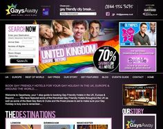Website Design for GaysAway.co.uk from Mass Appeal Designs