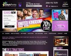 Website Design for GaysAway.co.uk from Mass Appeal Designs