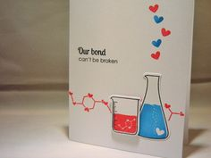 Geeky Valentine Card, Anniversary Card, I Love You Card, Geek Card, Science Beaker