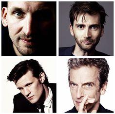 Christopher Eccleston, David Tennant, Matt Smith & Peter Capaldi- Doctor Who! David Tennant, Doctor Who, 12th Doctor, Twelfth Doctor, I Like Him, My Love, Christopher Eccleston, Out Of Touch, Don't Blink