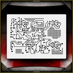 Circuit Board 1 Airbrush Stencil Template Airsick | eBay