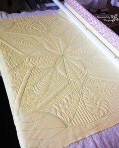 Free Motion Quilting | Longarm Quilting | Whole Cloth Quilt Design by Jen Eskridge
