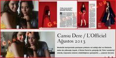 #LOfficielTurkey August 2013 #CansuDere #ŞebnemBurcioğlu